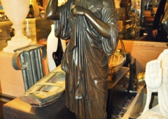 Diana de Gables, Fourth quarter 19th Century Bronze statuette, After the Antique.