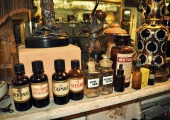 Various Pharmaceutical Bottles and related items.